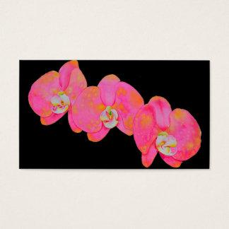 Cartes De Visite Orchidées roses