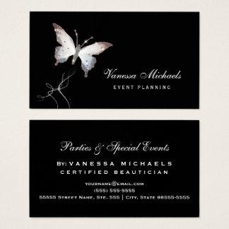 Cartes De Visite Organisateur élégant de papillon éthéré