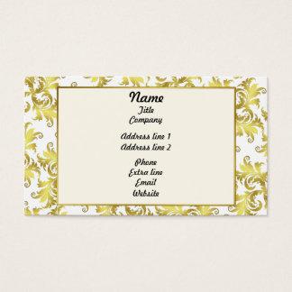 Cartes De Visite Ornement de fleur d'or