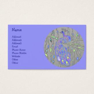 Cartes De Visite Paon impressionniste à la mode élégant du © P