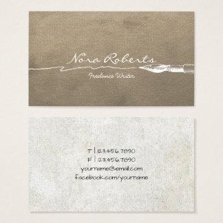 Cartes De Visite Papier de Brown blanc de stylo d'immersion de