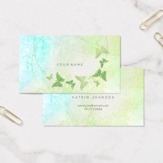Cartes De Visite Papillon bleu vert en bon état de Tiffany