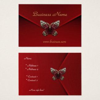 Cartes De Visite Papillon de velours de rouge riche d'affaires de