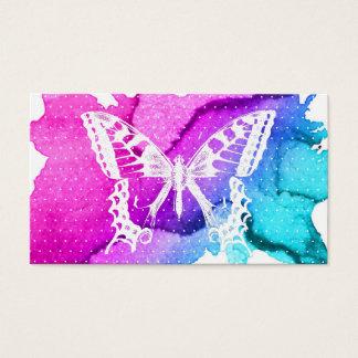 Cartes De Visite Papillon élégant d'aquarelle élégant