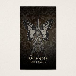Cartes De Visite Papillon vintage et ciseaux de poinçon de fidélité