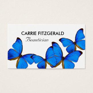 Cartes De Visite Papillons bleus, esthéticien