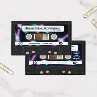 Cartes De Visite Partie 80s de musique du DJ d'enregistreur à