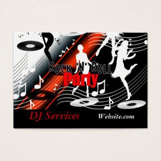 Cartes De Visite Partie de musique de jockey de disque du DJ de