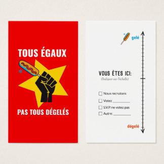 Cartes De Visite Pas les plus dégelés de la boite humour Québec