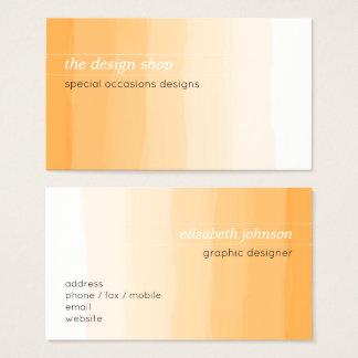 Cartes De Visite Pastel orange simple élégant simple d'aquarelle