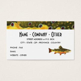 Cartes De Visite Pêche de truite de ruisseau