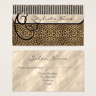Cartes De Visite Peigne et léopard ID319 de boucles