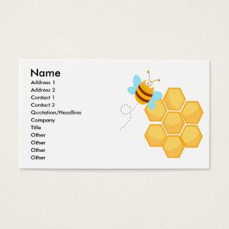 Cartes De Visite peigne idiot d'abeille et de miel de ruche