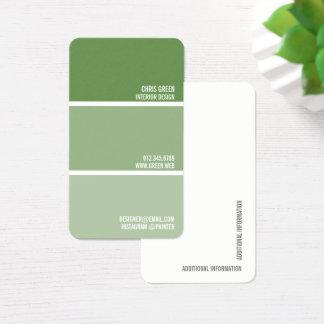 Cartes De Visite Peignez le décorateur vert de peintre de puces de