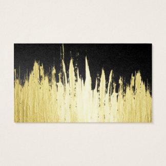 Cartes De Visite Peignez les courses en or de Faux sur le noir