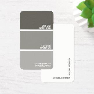 Cartes De Visite Peignez les puces grises chaudes de peinture de