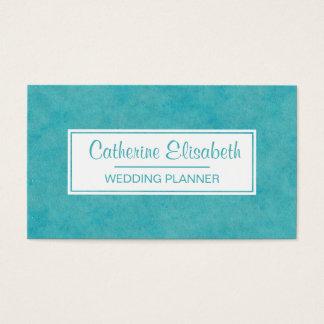 Cartes De Visite Peinture bleue/verte de lavage d'aquarelle,