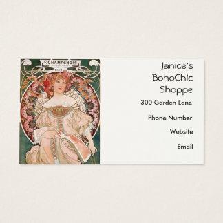 Cartes De Visite Peinture d'Alphonse Mucha