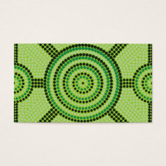 Cartes De Visite Peinture indigène de point