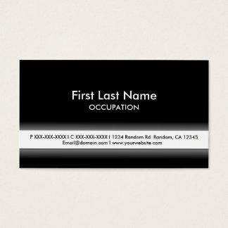 Cartes de visite personnalisables blancs noirs