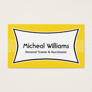 Cartes de visite personnels jaunes lumineux
