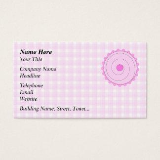 Cartes De Visite Petit gâteau rose