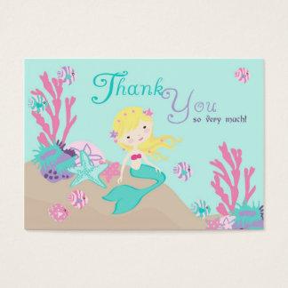 Cartes De Visite Petite blonde de l'étiquette L2 de cadeau de la