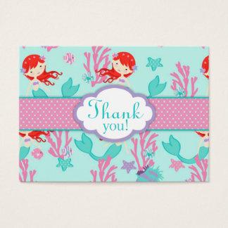 Cartes De Visite Petite étiquette L de cadeau de la sirène TY