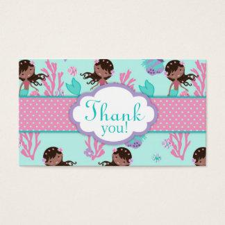 Cartes De Visite Petite étiquette M aa de cadeau de la sirène TY