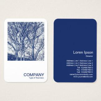 Cartes De Visite Photo carrée 0591 - arbres en hiver - Cyanotype