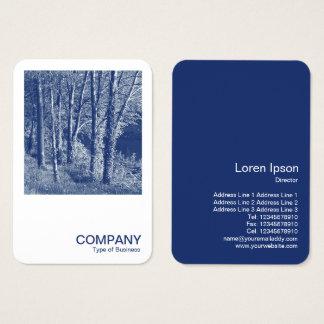 Cartes De Visite Photo carrée 0592 - arbres par une rivière -