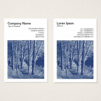 Cartes De Visite Photo carrée (v3) - arbres par une rivière -