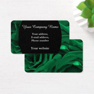 Cartes De Visite Photo florale de roses veloutés riches de vert