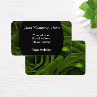 Cartes De Visite Photo veloutée riche de fleur de roses de vert