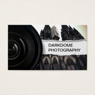 Cartes De Visite Photographie noire et blanche professionnelle