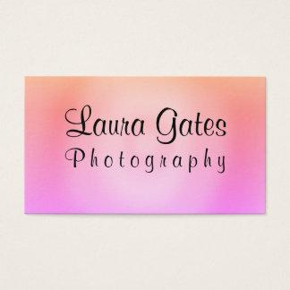 Cartes De Visite Photographie pourpre orange rose d'aquarelle