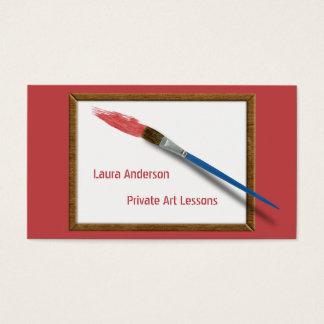 Cartes De Visite Pinceau d'artiste ou de professeur d'art