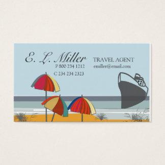 Cartes De Visite Plage d'été de vacances d'agent de voyage