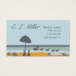 Cartes De Visite Plage d'océan de vacances d'agent de voyage