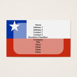 Cartes De Visite Plaine de drapeau du Chili