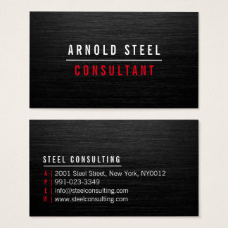 Cartes De Visite Plaine professionnelle en métal noir moderne