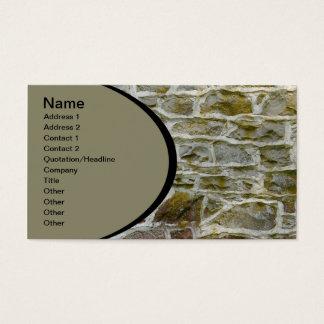 Cartes De Visite plan rapproché du mur en pierre et du mortier