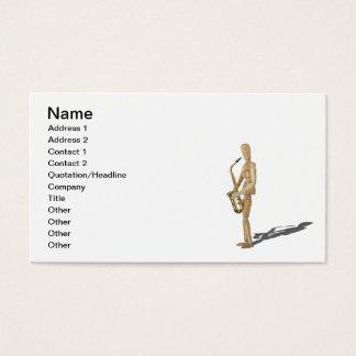 Cartes De Visite PlayingTheSaxophone020511, nom, l'adresse 1,