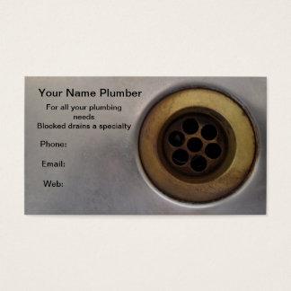 Cartes De Visite Plombier haut de drain de fin d'évier de cuisine