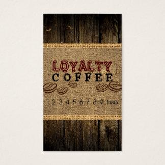 Cartes De Visite Poinçon de café de fidélité