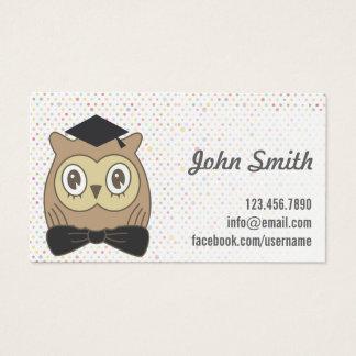 Cartes De Visite Pois de docteur Owl Cute de professeur