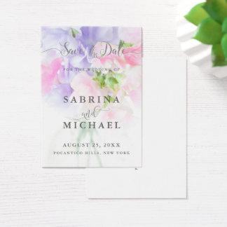 CARTES DE VISITE POIS DOUX DE MARIAGE CHIC FLORAL