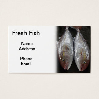 Cartes De Visite Poisson frais superbe sur l'affichage