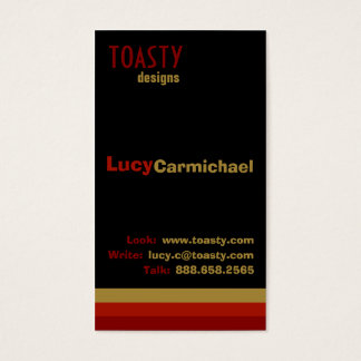 Cartes De Visite Poivrons de piment Toasty