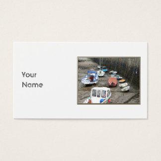 Cartes De Visite Port de Lynmouth avec des bateaux